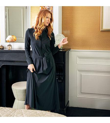 Studio Anneloes Indy Zipper Dress Dark Grey