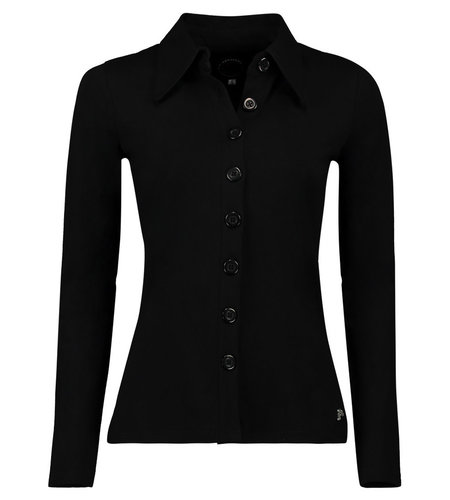 Tante Betsy Buttons Shirt Black
