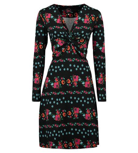 Tante Betsy Dress Knot Folki Black
