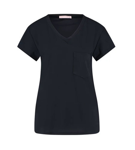 Studio Anneloes Roller Top Shortsleeve Dark Blue