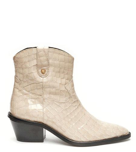 Fabienne Chapot Holly Zipper Boot Cream White