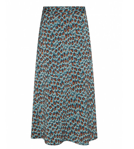 Fabienne Chapot Claire Skirt Dusty Blue Taupe Peacock Party