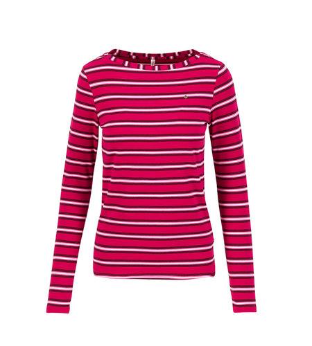 Blutsgeschwister Logo Striped Longsleeve Shirt Morning Glory Stripes