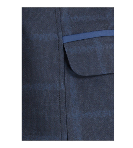 Studio Anneloes Risan Check Blazer Dark Blue Classic Blue