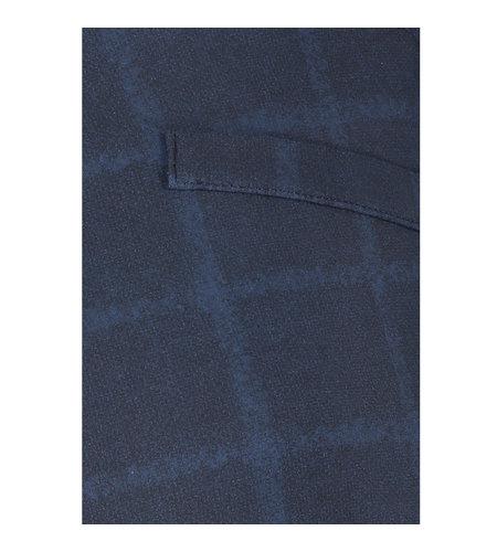 Studio Anneloes Flair Check Trousers Dark Blue Classic Blue