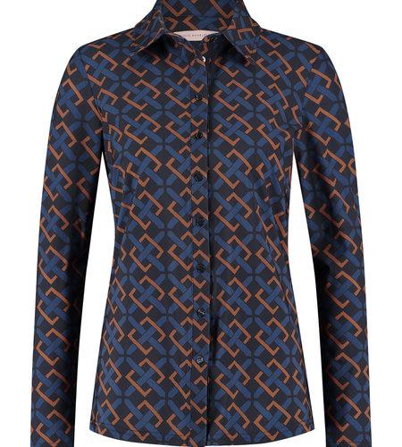 Studio Anneloes Poppy Belt Shirt Classic Blue Cognac
