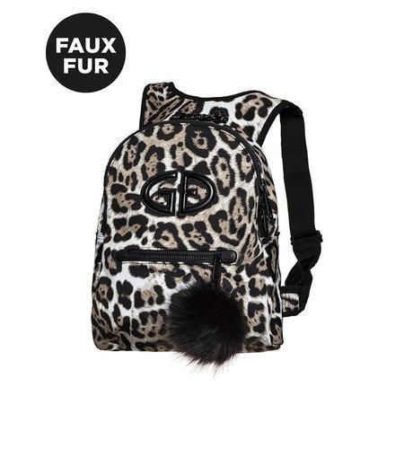 Goldbergh Handy Backpack Faux Fur Leopard