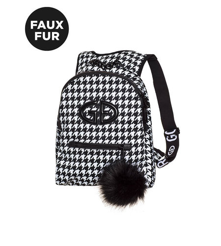 Goldbergh Handy Backpack Faux Fur White
