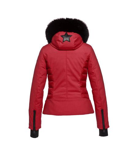 Goldbergh Kaja Jacket Faux Fur Scarlet