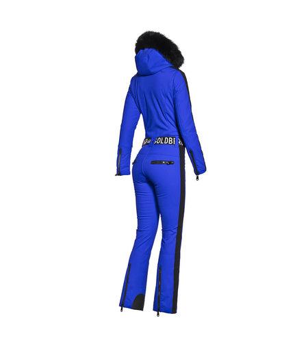Goldbergh Empress Jumpsuit Faux Fur Electric Blue