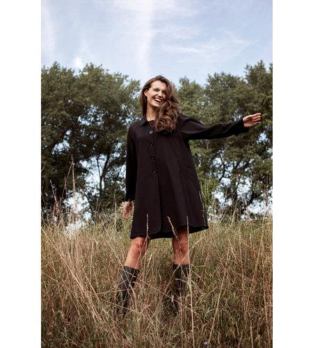 Studio Anneloes Mirthe Bonded Trenchcoat Black