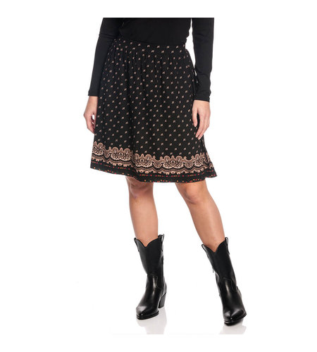 Vive Maria Heidi Swing Skirt Black Allover
