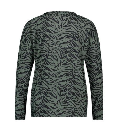 Studio Anneloes Merel Longsleeve animal shirt Moss Green Black