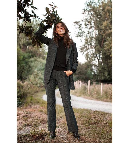 Studio Anneloes Flair Snake Trousers Dark Grey Moss Green