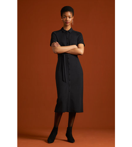 King Louie Rosie Slim Fit Dress Milano Uni Black