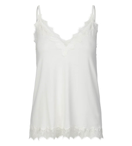 Rosemunde Strap Top With Elegant Lace Ivory