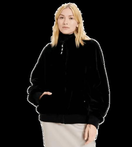 UGG Laken Faux Fur Jacket Black