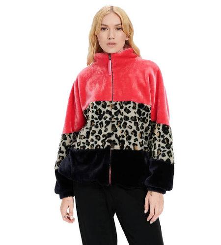 UGG Elaina Colorblock Sherpa Pink Lili Multi