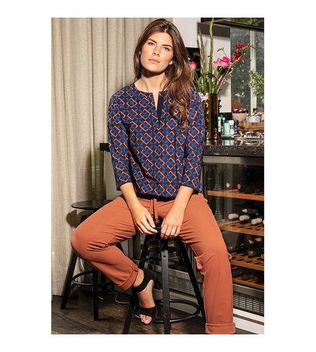 Studio Anneloes Merel Belt Shirt Classic Blue Cognac
