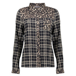 Geisha Blouse Combi Leopard and Check
