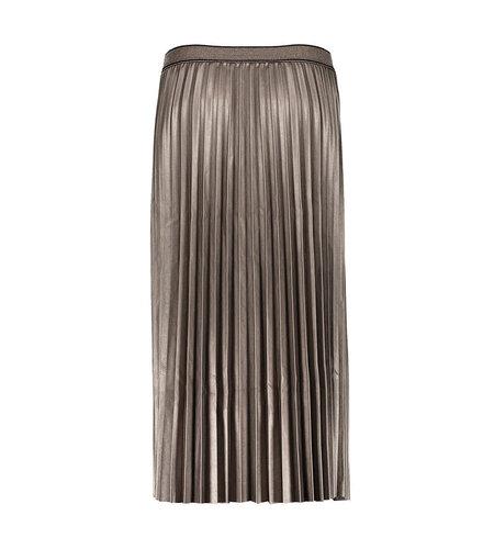 Geisha Skirt Shiny Plisse Lurex Waistband Bronze 06804-10