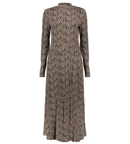 Geisha Dress Bi Color Zebra Knitted Sand Black 07908-20