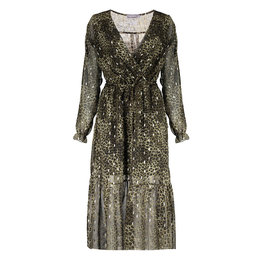 Geisha Dress Leopard With Gold