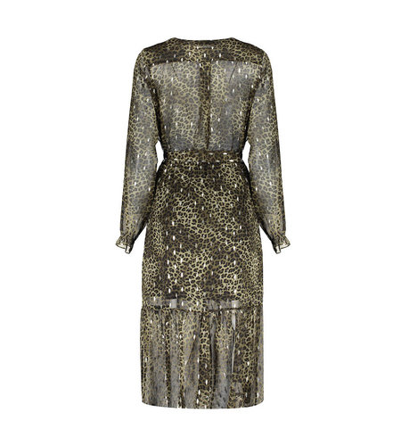 Geisha Dress Leopard With Gold Army Sand 07909-20