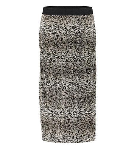 Geisha Skirt Plisse Leopard Sand 06873-20