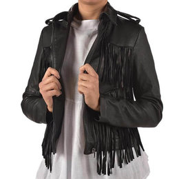 Karma of Charme Leather Fringes Jacket