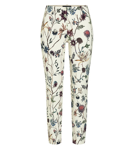 Cambio Ros Summer Cropped Creme Embroidered Flora