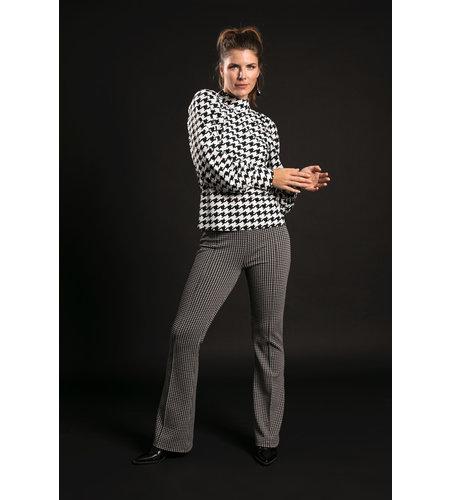 Studio Anneloes Fien Jacquard Trousers Black Off White