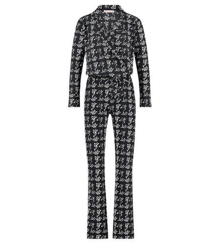 Studio Anneloes Angelou Knit Look Jumpsuit Black Ivory