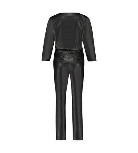 Studio Anneloes Hanny Leather Jumpsuit  Black
