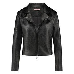 Studio Anneloes Biker Croko Leather Jacket