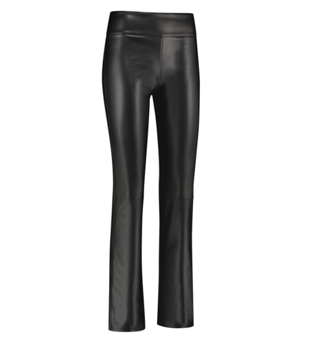 Studio Anneloes Hester Leather Trousers  Black