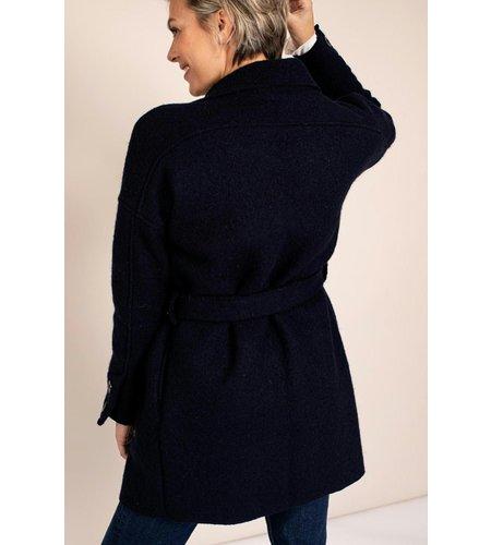 Studio Anneloes Philly Wool Coat Dark Blue