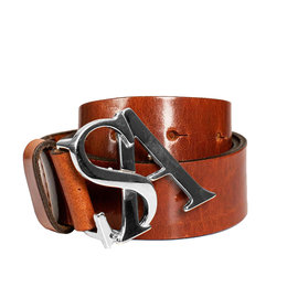 Studio Anneloes SA Silver Buckle Leather Belt