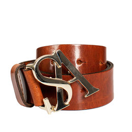 Studio Anneloes SA Gold Buckle Leather Belt