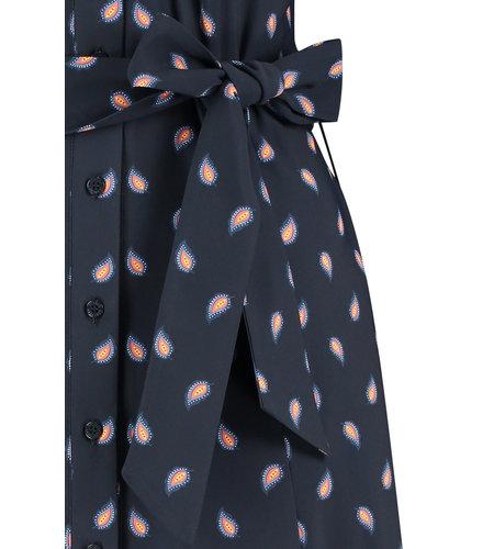 Studio Anneloes Indy Paisley Max Dress Dark Blue Abricot