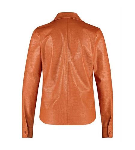 Studio Anneloes Ellis Croco Leather Blouse Abricot
