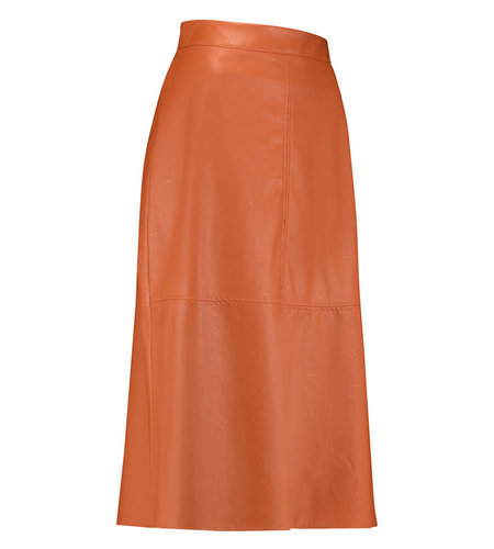 Studio Anneloes Maxime Faux Leather Skirt Abricot