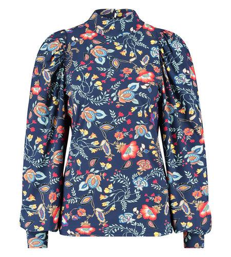 Studio Anneloes Bo Flower Blouse Classic Blue Abricot