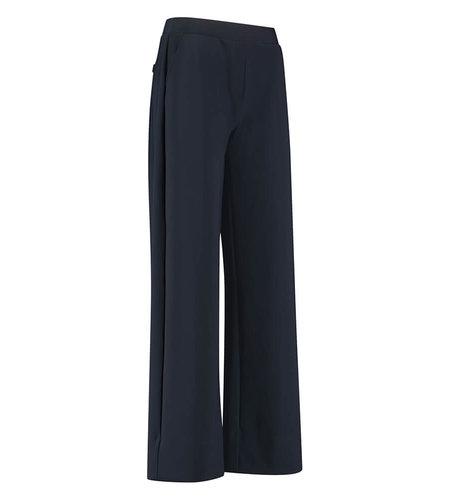 Studio Anneloes Valerie Bonded Trousers Dark Blue