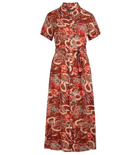 King Louie Rosie Dress Midi Lei Coconut Brown
