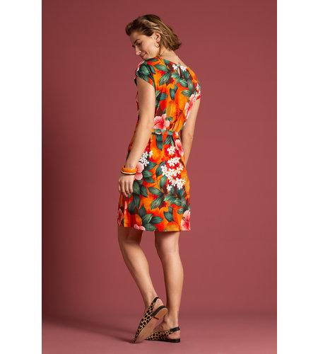 King Louie Shirley Dress El Segundo Popsicle Orange