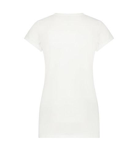 Jane Lushka T Shirt V Neck Easy Wear White
