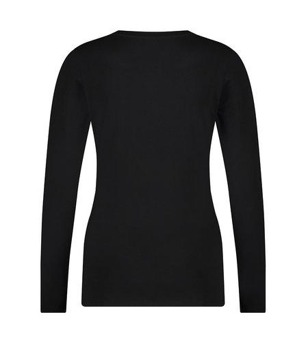 Jane Lushka T Shirt R Neck Easy Wear Black