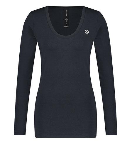 Jane Lushka T Shirt R Neck Easy Wear Blue
