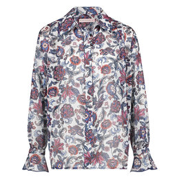 Studio Anneloes Tosca Flower Lurex Crepe Blouse